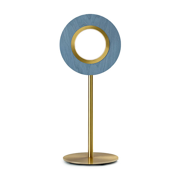 Lens Circular Table Lamp - Gold