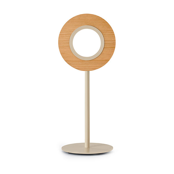 Lens Circular Table Lamp - Matt Ivory