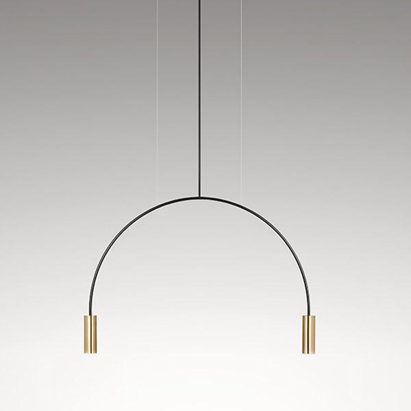 Volta Suspension Lamp - T-3535-M - With White Canopy