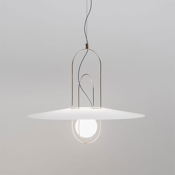 Setareh Large Suspension Lamp With Glass Diffuser