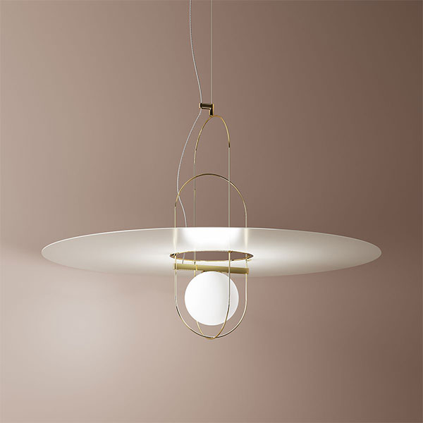 Setareh Large Suspension Lamp With Metal Diffuser