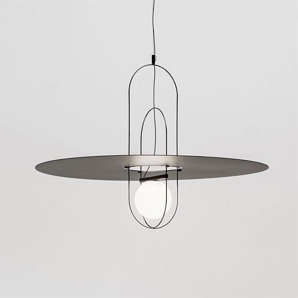 Setareh Medium Suspension Lamp With Metal Diffuser