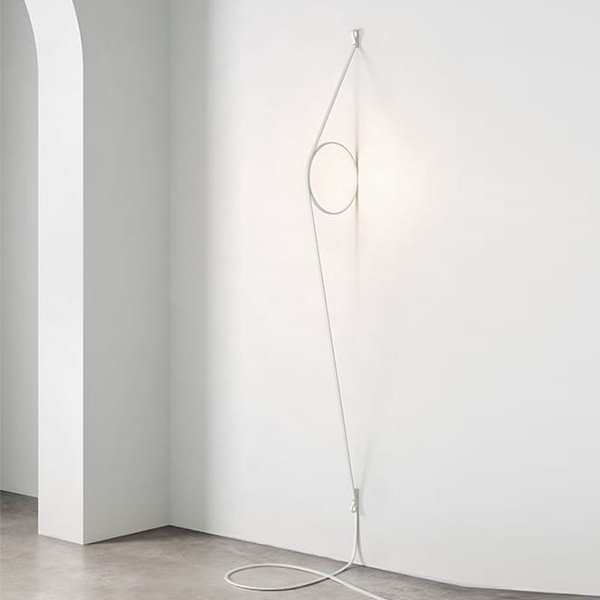 Wirering Wall Lamp With Grey Cable