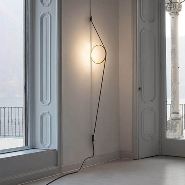 Wirering Wall Lamp With White Cable