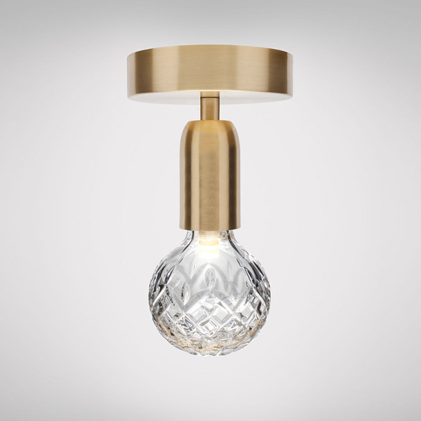 Crystal Bulb Ceiling Lamp - Clear