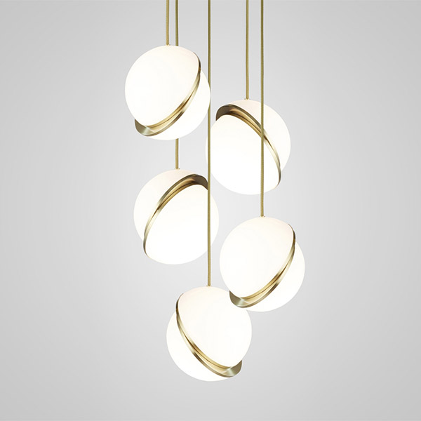 Mini Crescent Chandelier 5 Piece