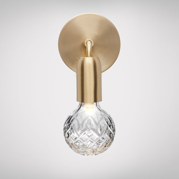 Crystal Bulb Wall Lamp - Clear
