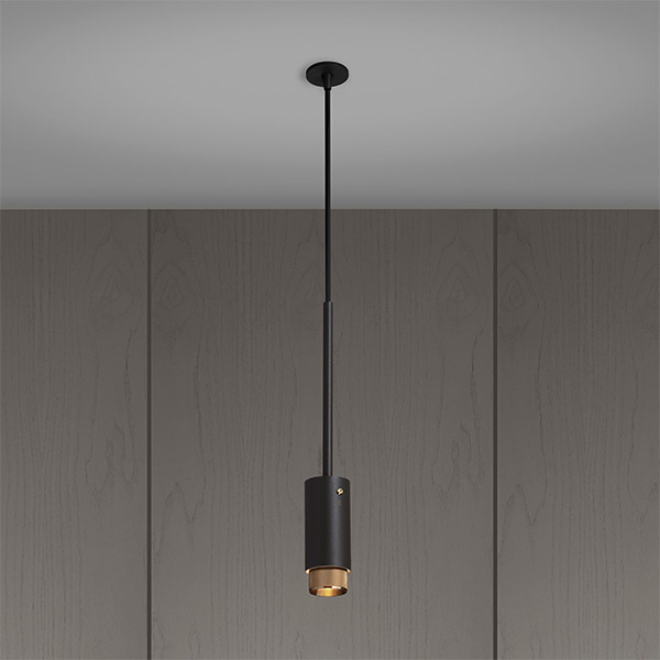 Exhaust Pendant - Graphite & Brass