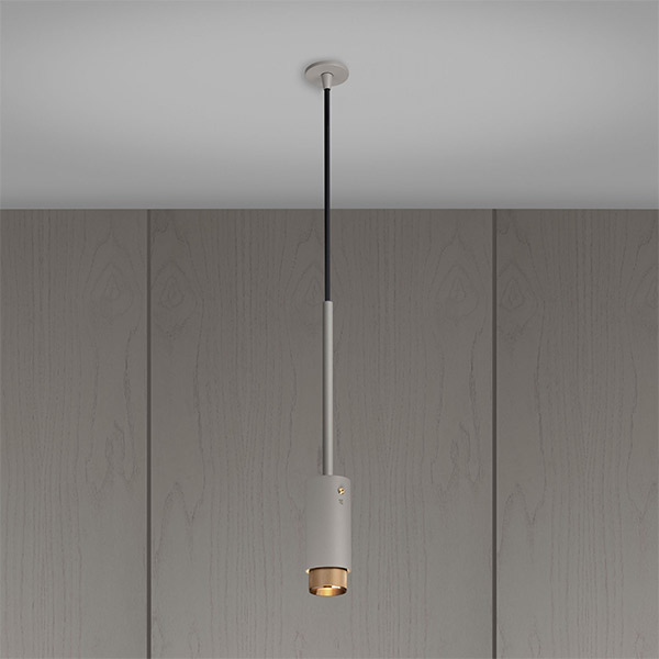Exhaust Pendant - Stone & Brass