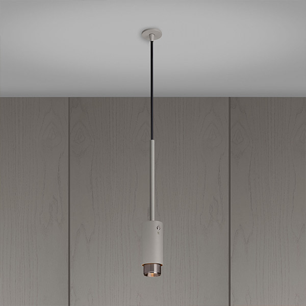 Exhaust Pendant - Stone & Steel