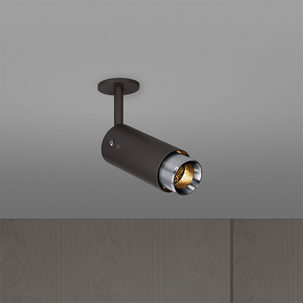 Exhaust Spot Ceiling Lamp - Graphite & Steel