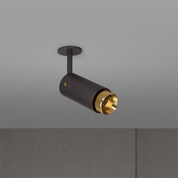 Exhaust Spot Ceiling Lamp - Graphite & Brass