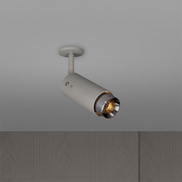 Exhaust Spot Ceiling Lamp - Stone & Steel