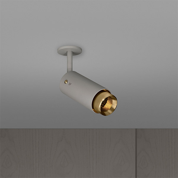 Exhaust Spot Ceiling Lamp - Stone & Brass