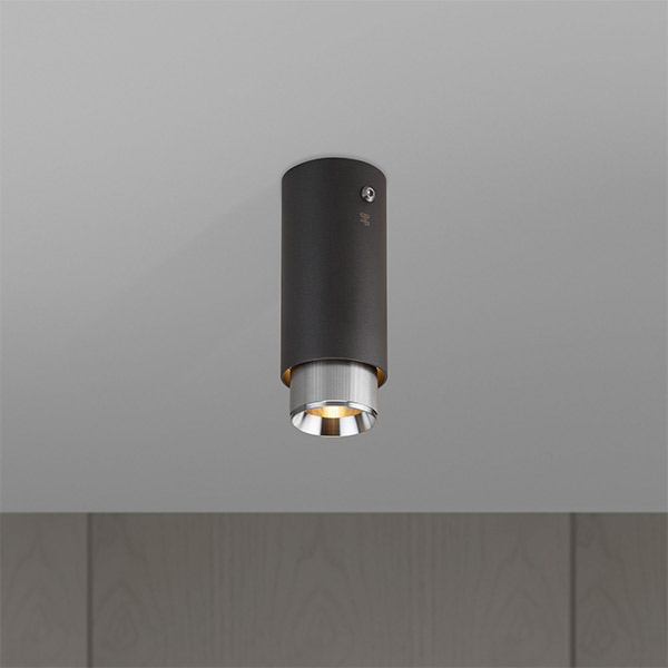 Exhaust Surface Ceiling Lamp - Graphite & Steel