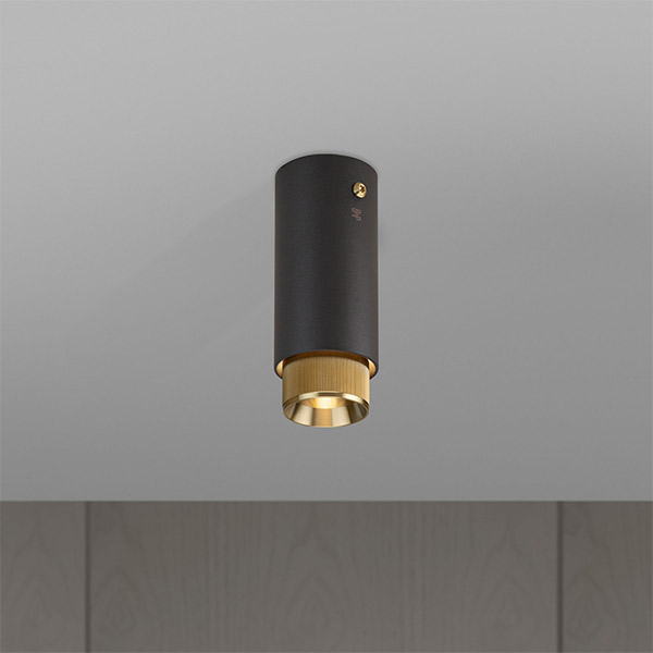 Exhaust Surface Ceiling Lamp - Graphite & Brass