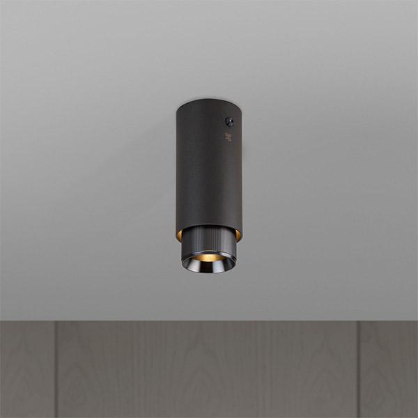 Exhaust Surface Ceiling Lamp - Graphite & Gun Metal