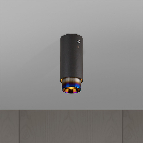 Exhaust Surface Ceiling Lamp - Graphite & Burnt Steel