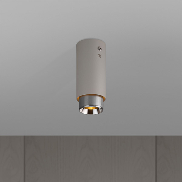 Exhaust Surface Ceiling Lamp - Stone & Steel