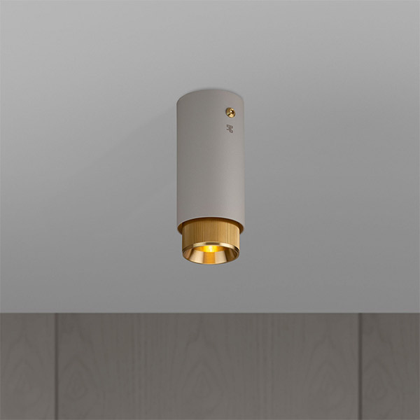 Exhaust Surface Ceiling Lamp - Stone & Brass
