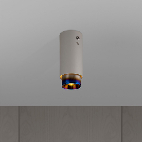 Exhaust Surface Ceiling Lamp - Stone & Burnt Steel