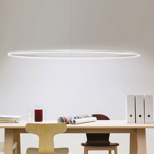 Ellisse Major Pendant With Downlight