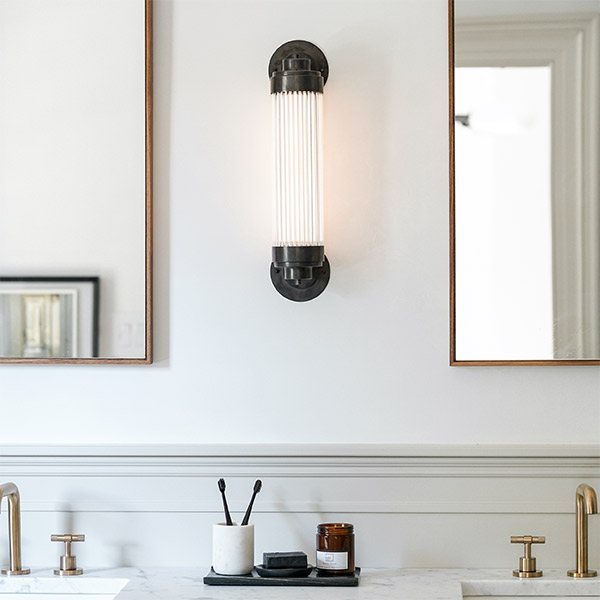 Pillar Offset Wall Lamp