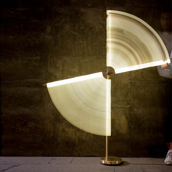 Marble Tubes - The Swivel Floor Lamp