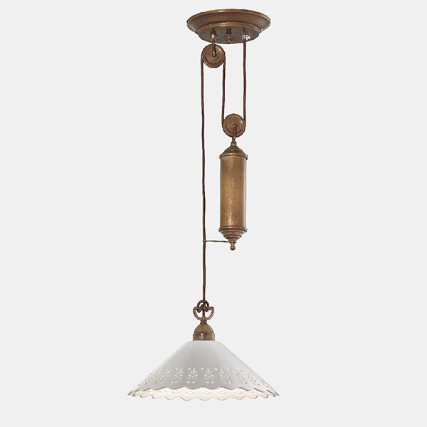 Fior Di Pizzo Rise and Fall Suspension Lamp - C