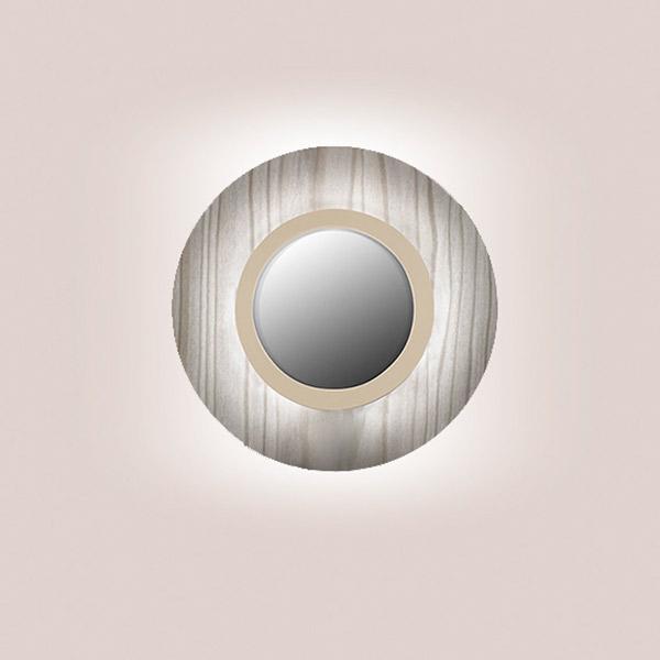 Lens Circular Wall Lamp - Matt Ivory