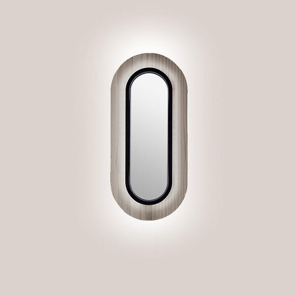Lens Oval Wall Lamp - Matt Black