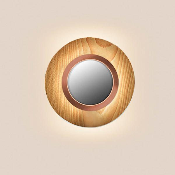 Lens Circular Wall Lamp - Copper