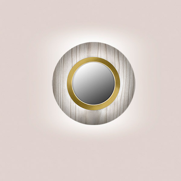 Lens Circular Wall Lamp - Gold