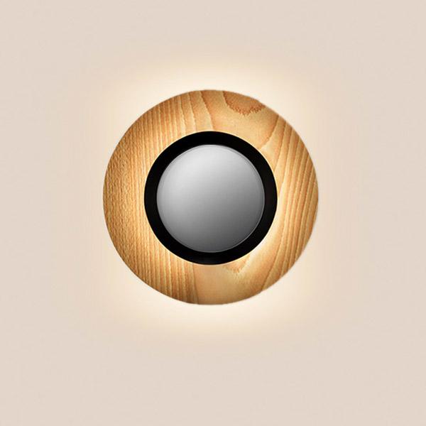 Lens Circular Wall Lamp - Matt Black