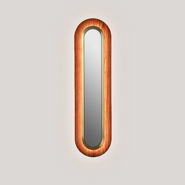 Lens Super Oval Wall Lamp - Gold