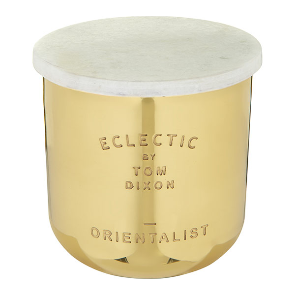 Eclectic Orientalist Candle Medium Brass