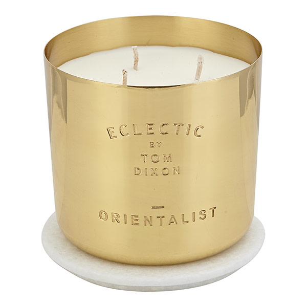 Eclectic Orientalist Candle Large Brass
